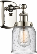 Innovations 916-1W-PN-G54-LED Ballston Small Bell Contemporary Polished Nickel LED Sconce Lighting