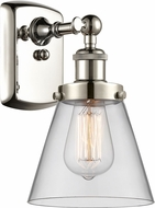 Innovations 916-1W-PN-G62-LED Ballston Small Cone Modern Polished Nickel LED Lighting Sconce