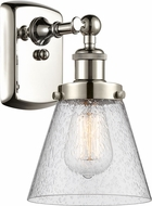 Innovations 916-1W-PN-G64 Ballston Small Cone Contemporary Polished Nickel Lamp Sconce