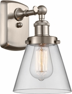 Innovations 916-1W-SN-G62-LED Ballston Small Cone Modern Brushed Satin Nickel LED Wall Light Sconce