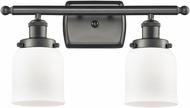 Innovations 916-2W-OB-G51 Ballston Small Bell Contemporary Oil Rubbed Bronze 2-Light Bath Wall Sconce