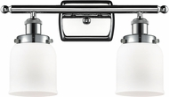 Innovations 916-2W-PC-G51 Ballston Small Bell Contemporary Polished Chrome 2-Light Vanity Light