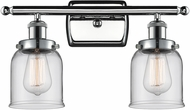 Innovations 916-2W-PC-G52-LED Ballston Small Bell Contemporary Polished Chrome LED 2-Light Bathroom Light Fixture
