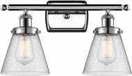 Innovations 916-2W-PC-G64-LED Ballston Small Cone Contemporary Polished Chrome LED 2-Light Vanity Lighting Fixture