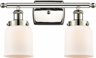 Innovations 916-2W-PN-G51 Ballston Small Bell Contemporary Polished Nickel 2-Light Bath Wall Sconce
