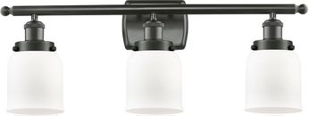 Innovations 916-3W-OB-G51-LED Ballston Small Bell Contemporary Oil Rubbed Bronze LED 3-Light Bathroom Vanity Light