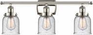 Innovations 916-3W-PN-G54-LED Ballston Small Bell Contemporary Polished Nickel LED 3-Light Vanity Lighting Fixture