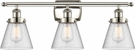 Innovations 916-3W-PN-G64 Ballston Small Cone Contemporary Polished Nickel 3-Light Bath Wall Sconce
