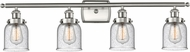 Innovations 916-4W-SN-G54-LED Ballston Small Bell Contemporary Brushed Satin Nickel LED 4-Light Bath Sconce