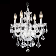James Moder 40254S22 Maria Theresa Crystal Silver Mini Chandelier Lamp
