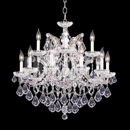 James Moder 40257S22 Maria Theresa Crystal Silver Chandelier Lighting
