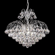 James Moder 40327S22 Cascade Crystal Silver Mini Hanging Chandelier
