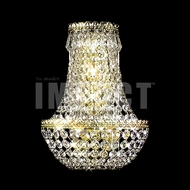 James Moder 40531G22 Imperial Crystal Gold Wall Light Fixture