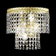 James Moder 40534G22 Imperial Crystal Gold Lighting Wall Sconce