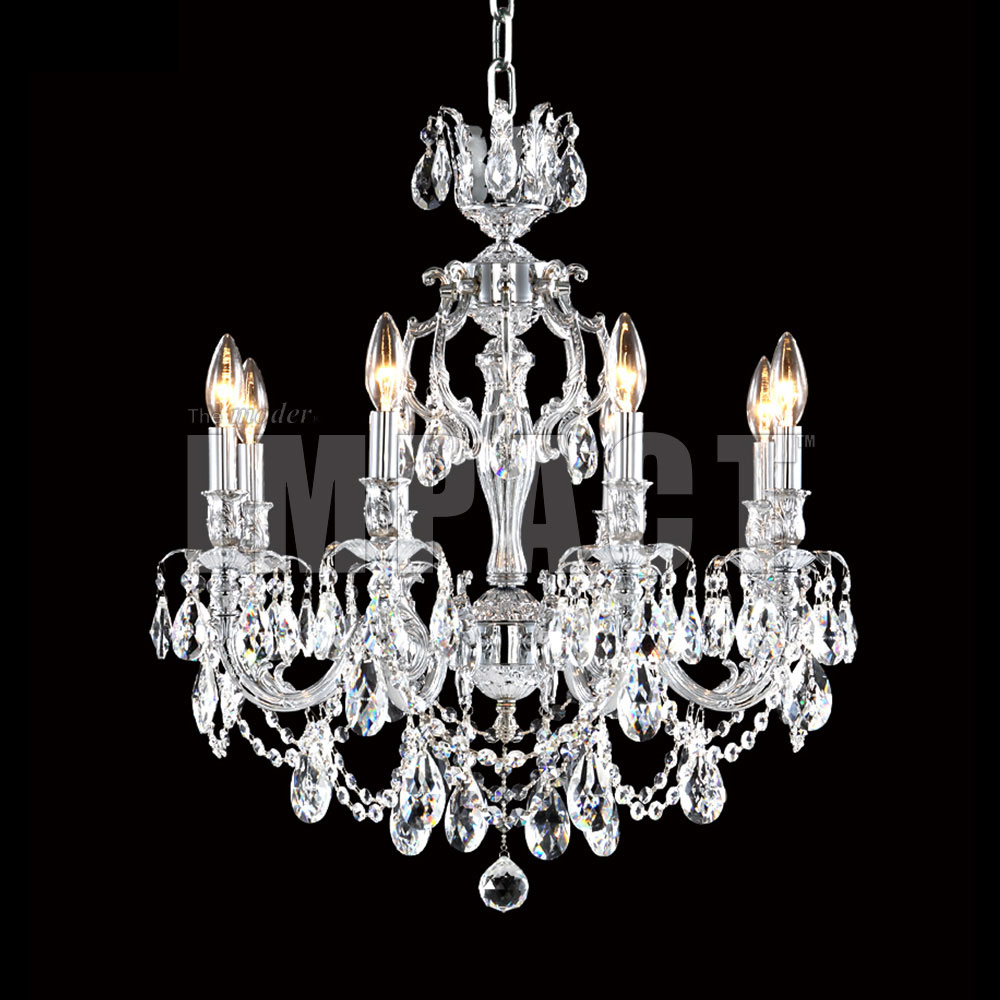 James Moder 40618s22 Brindisi Crystal Silver Chandelier Lighting