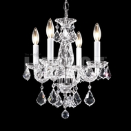 James Moder 40794S22 Place Ice Crystal Silver Mini Chandelier Lamp