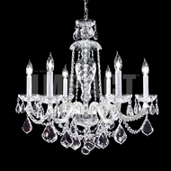 James Moder 40796S22 Place Ice Crystal Silver Chandelier Light