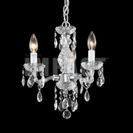 James Moder 40853S22 Crystal Silver Mini Ceiling Chandelier