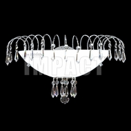 James Moder 40873S22 Crystal Rain Silver Light Sconce