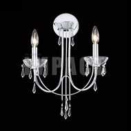 James Moder 40882S22 Crystal Rain Silver Lighting Sconce