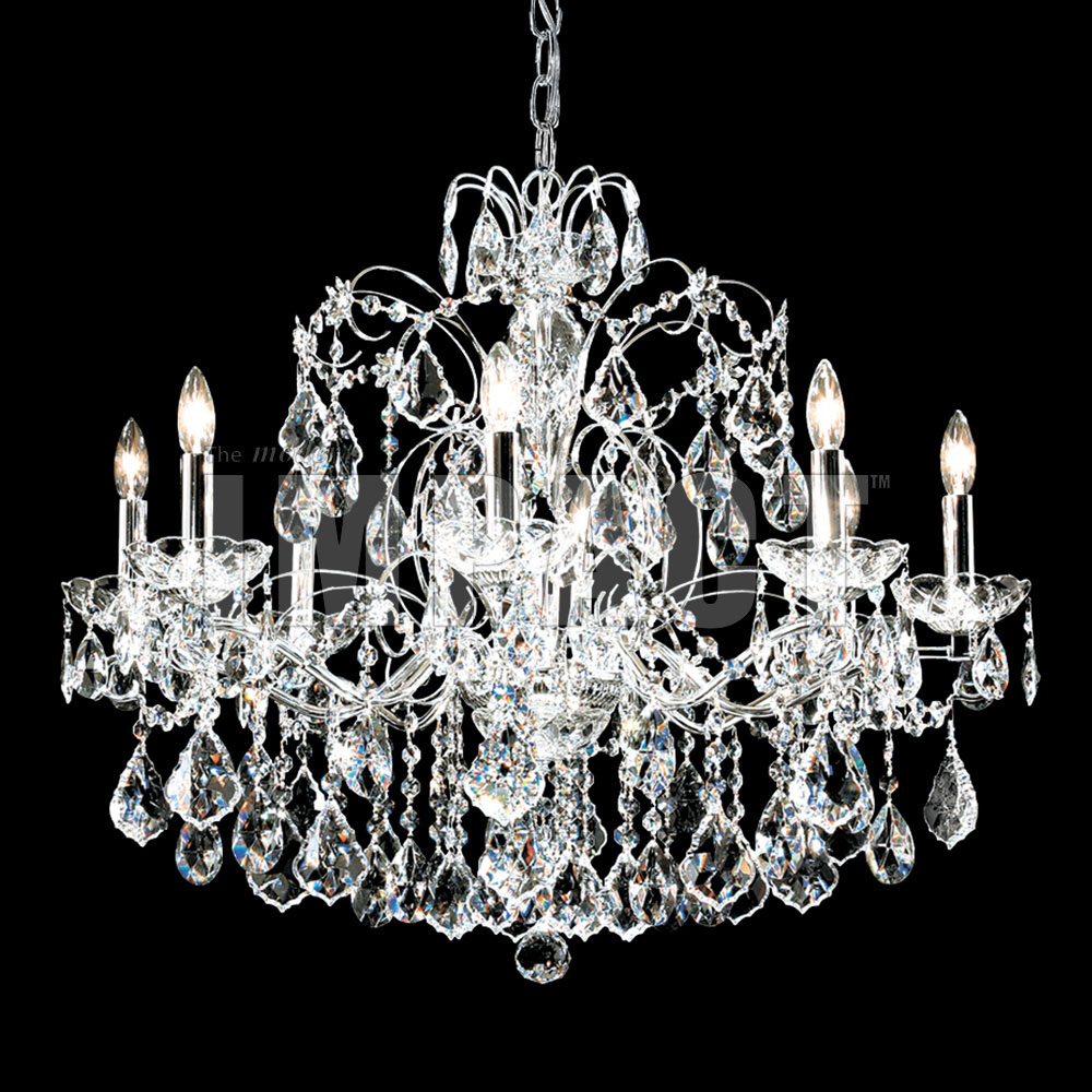 James Moder 40908s22 Regalia Crystal Silver Lighting Chandelier