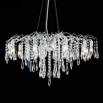 James Moder 40938S22 Silver Chandelier Light
