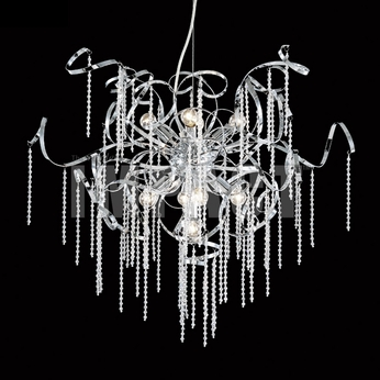 James Moder 40948S22 Silver Ceiling Chandelier