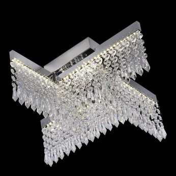 James Moder 41018S22LED Galaxy Collection Silver LED Ceiling Light Fixture