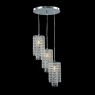James Moder 41044S22 Contemporary Collection Silver Multi Lighting Pendant