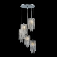 James Moder 41045S22 Contemporary Collection Silver Multi Pendant Lamp