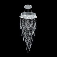 James Moder 41051S22 Crystal Rain Collection Silver Halogen Mini Chandelier Light