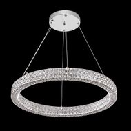 James Moder 41063S22LED Acrylic Collection Contemporary Silver LED Hanging Light