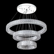 James Moder 41068S22LED Acrylic Collection Contemporary Silver LED Pendant Light Fixture