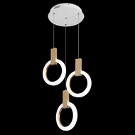 James Moder 41093W22LED Acrylic Collection Contemporary White LED Multi Hanging Pendant Lighting