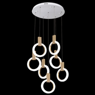 James Moder 41097W22LED Acrylic Collection Contemporary White LED Multi Pendant Hanging Light