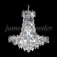 James Moder 91332S22 Continental Fashion Crystal Silver Chandelier Light