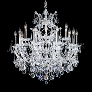James Moder 91688S22 Maria Theresa Grand Crystal Silver Ceiling Chandelier