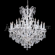 James Moder 91690S22 Maria Theresa Grand Crystal Silver Hanging Chandelier