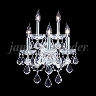 James Moder 91705S22 Maria Theresa Grand Crystal Silver Wall Lighting Sconce
