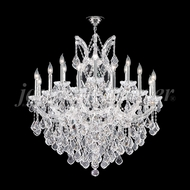 James Moder 91790S22 Maria Theresa Grand Crystal Silver Lighting Chandelier