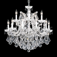 James Moder 91800S22 Maria Theresa Grand Crystal Silver Hanging Chandelier