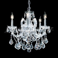 James Moder 91805S22 Maria Theresa Grand Crystal Silver Mini Chandelier Lighting