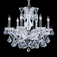 James Moder 91806S22 Maria Theresa Grand Crystal Silver Chandelier Lamp