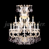 James Moder 91811GL22 Maria Theresa Grand Crystal Gold Lustre Wall Mounted Lamp
