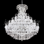 James Moder 91830S22 Maria Theresa Grand Crystal Silver Ceiling Chandelier