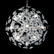 James Moder 93490S22 Europa Crystal Silver Lighting Chandelier
