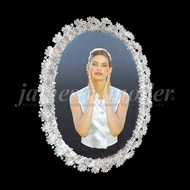 James Moder 93500S11 Crystal Silver Wall Mirror