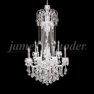 James Moder 93917S22 Maria Elena Crystal Silver Chandelier Lamp