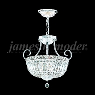 James Moder 94051S22 Crystal Silver Drop Ceiling Lighting