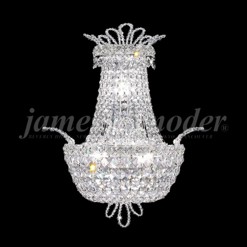 James Moder 94108S22 Princess Crystal Silver Wall Lamp